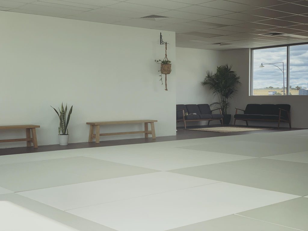 Indoor designs at Coringa Jiu Jitsu gym